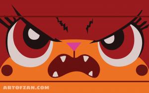 angry unikitty