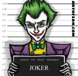 bman joker label
