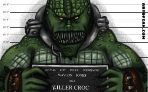 bman killer croc label