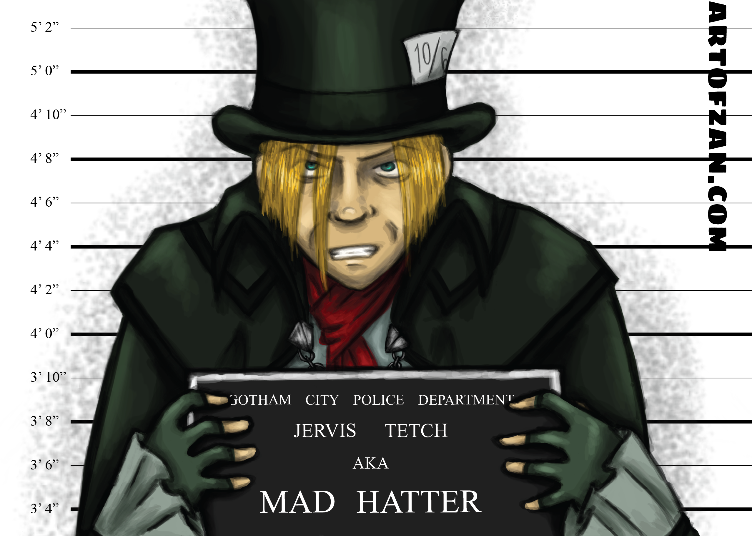 bman mad hatter label