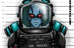 bman mr freeze label