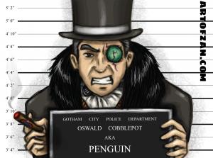bman penguin label