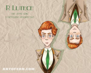 lutece twins tea label minus writing